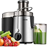 AICOK Juicer Juice Extractor with Wide Mouth 3 Speed Stainless Steel Centrifugal Juicer for Fruit and Vegetable, Powerful 400W Juicer Machine with Anti-drip Mouth and Non-Slip Feet, BPA Free