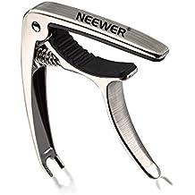 Neewer® nw-22en 1plata aluminio con una sola mano Guitar Capo con el puente Pin Extractor para Guitarra Acústica y Eléctrica: Tune cambio rápido + tira de puente Pin