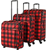 travelite Campus 4-Rad Trolley-Set 3-tlg 10 karo rot