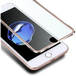 VIUME Compatible avec iPhone 8 7 Protection Écran,Film Protection en Verre Trempé Écran Protecteur pour Apple iPhone 7 / iPhone 8 Vitre Haute Définition Dureté 9H(4.7 Pouce) (Métal Or Rose)