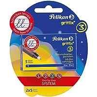 Pelikan 960575 - Griffix Tintenschreiber Patronen 2 x 5er Blister