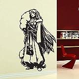 Autocollant 58X99 CM Salon Décoration Sticker Mural Tatouage Art Mur De Verre Japonais Anime Manga Personnage Mural Cadeau Porte Fond Acrylique Papier Peint Garçon Chambre Salon Mural Anniversaire