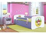 Kocot Kids Kinderbett Jugendbett 70x140 80x160 80x180 Blau mit Rausfallschutz Matratze Schubalde und Lattenrost Kinderbetten für Junge - Haus 160 cm