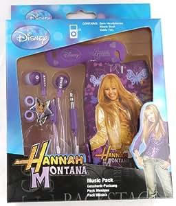 Emartbuy Echten Disney Hannah Montana Music Pack Von Purpur In Ear-Stereo-Kopfhörer, Kabel Ordentlich Und Pouch / Gehäuse / Abdeckung / Socks Für Samsung S5360 Galaxy Y
