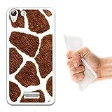WoowCase Wiko Selfy 4G Hülle, Handyhülle Silikon für [ Wiko Selfy 4G ] Tier Giraffedruck Handytasche Handy Cover Case Schutzhülle Flexible TPU - Transparent