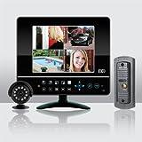 """ESP Bdeye CCTV """"Observation de l'accès au système Plug Play &Combiné porte d'entrée et Networkable Système de caméra de vidéosurveillance Blanc"""