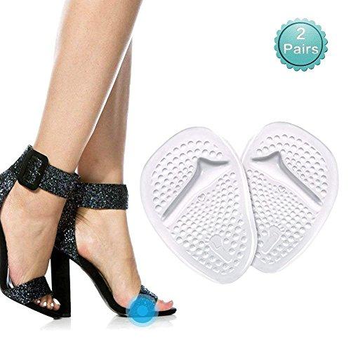 Silikon Vorfuß Einlegesohlen (4 Stück) - Soforthilfe bei Vorfuß für die Frauen, Fit zu tragen in High Heels(35-40) (Transparent) (Super Hohe Stiefel)