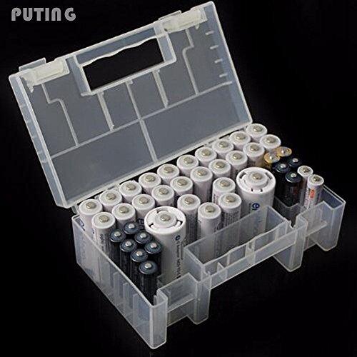 Preisvergleich Produktbild Generic Hartschale Kunststoff Akku Fall Organizer Halterung Container AAA AA 9V Akku Kartenleser und SD Karte klar Nützliche wll9240