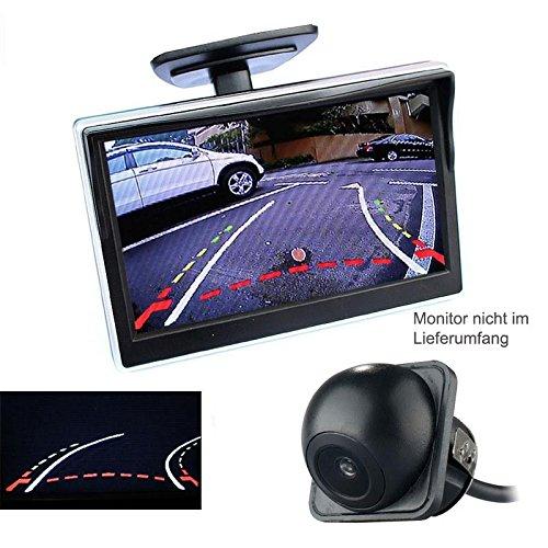 YMPA Rückfahrkamera Farbe Unterbau mit dynamischen beweglichen Hilfslinien Parklinen Distanzlinien 6 Meter Kabel hinten für Monitor Rückfahrsystem Auto KFZ PKW RFK-UBDL