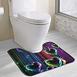 Hoklcvd Tapis de Toilette personnalisé - Beautiful Loves WC - Tapis de Douche