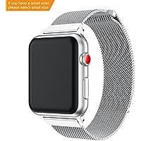 Für Apple Watch Armband 38mm/42mm, SUPORE Milanese Schlaufe Edelstahl Smart Watch Armbänder mit einzigartiger Magnetverriegelung ohne Schnalle für Apple Watch Armband Series 1/2/3 Sport Edition S/L
