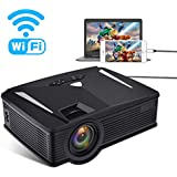 Portable Mini Projector Full HD, Neefeaer Video Projector Multimedia LCD Home Theater Projector Support 1080P HDMI USB SD Card VGA AV TV Laptop IPad Smartphone For Home Entertainment Games