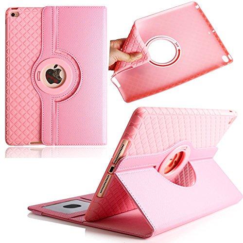 iPad 2 Caso,Avril Tian 360 Degrees rotación Función atril magnética con ranuras para tarjetas Smart Protector de pantalla desmontable carcasa para Apple iPad 4/ iPad 3/ iPad 2 9.7 Inch Tablet