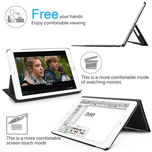 IVSO iPad Pro 10.5 QWERTZ Tastatur, Wireless Bluetooth Tastatur Schutzhülle mit Standfunction Für Apple iPad Pro 10.5 Tablet, Schwarz - 2