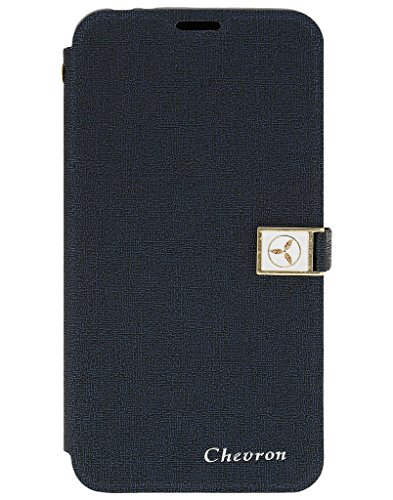Chevron Royal Armour Flip Cover With Stand Mode for Microsoft Lumia 535 (Blue)  available at amazon for Rs.199