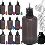 Rauchölflasche,Nadeltropfflaschen Filling Bottles E-Juice Needle Tip LDPE, Nadelflasche, Squeeze bottle, leere Liquidflasche für E-liquids zum Mischen oder Nachfüllen von E-Shishas und E-Zigaretten (30ML, 10pcs in Mixed colors)