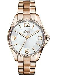 s.Oliver Damen-Armbanduhr Analog Quarz Edelstahl SO-2967-MQ