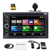 EinCar Freie Hintere Kamera Doppel-Din-Autoradio Unterstützt Bluetooth Lenkrad-Steuerung GPS-Navi 6.2 Zoll HD kapazitiver Touch Screen Auto Radio FM AM USB-TF-Karten-DVD CD Win CE Enthält