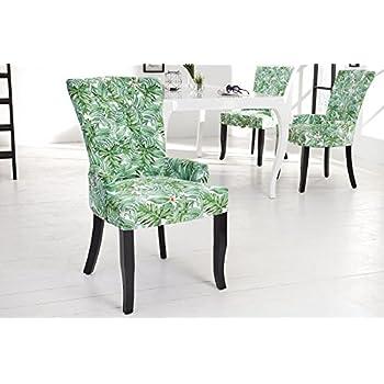 DuNord Design Esszimmerstuhl Sessel DIMENSION PROVENCE grün Blätter ...