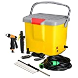 Best Portable Air Compressors - GosFrid Portable Electric Pressure Car Washer with Air Review