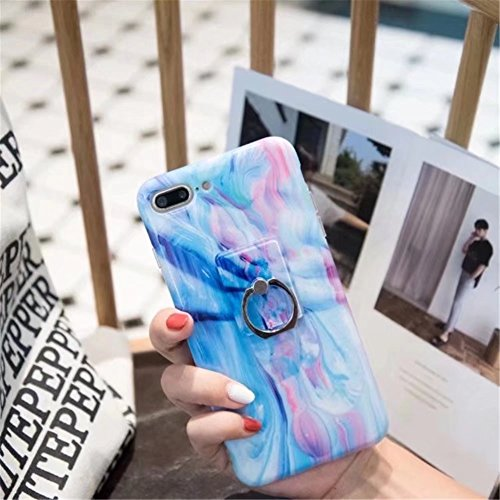iPhone 6 Plus Case, Laser Bling Soundmae Personalized Marble Design [Glossy Soft Touch Feeling Case] Shiny Color Changed Sparkling Back Cover for iPhone 6 Plus 5.5, Gary Silk