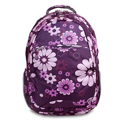 j-world-unisex-erwachsene-schulrucksack-violette-blume-violett-jws-49-purple-flower