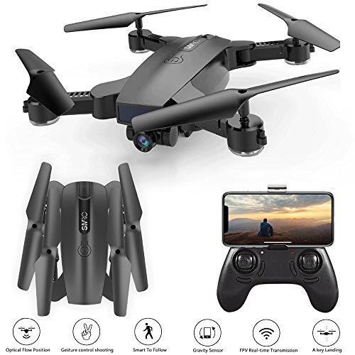 Hotbird Automatisch Folge Mir Drohne mit WiFi FPV 2MP 120 ° Weitwinkel Kamera 3D VR Live Video, Optischer Fluss Position, Faltbare RC Mini Kinder Drone, Geste Schießen Selfie Quadcopter