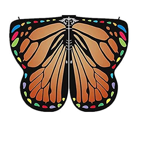 (ZEELIY Loop-Schal für Damen Frauenkleidung Schmetterling Flügel Schal Schal Dame Nymphenelf Poncho Kleidung)