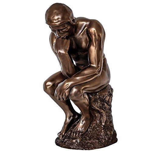 Skulptur der Denker nach Rodin Mann Figur Statue Antik-Stil 21cm
