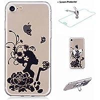 iPhone 7–Carcasa con Anillo y Vidrio Templado Pantalla Protector, missdu–Carcasa