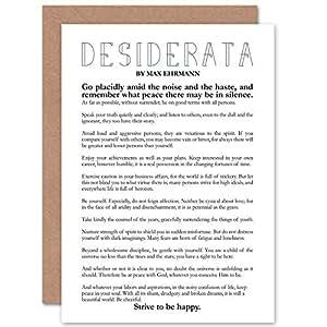 Wee Blue Coo Desiderata Poem By Max Ehrmann - Greeting Card/Birthday CP2036