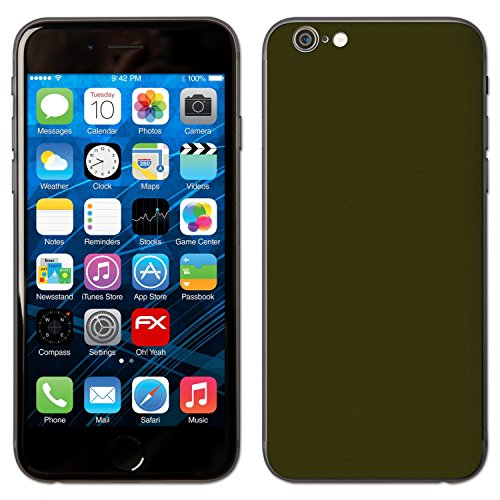 "Skin Apple iPhone 6 ""FX-Leather-Black"" Sticker Autocollant FX-Soft-Olive"