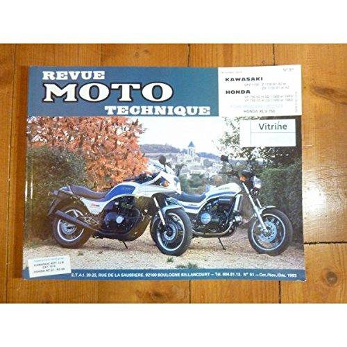 RMT0051 REVUE TECHNIQUE MOTO - HONDA VF50S et VF750C de 1982 à 1983 - KAWASAKI GPZ 1100, Z1100 B1 et B2, ZX1100 A1 et A2 par Collectif