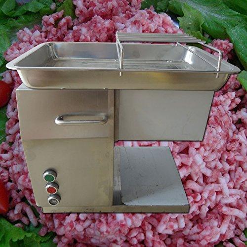 QX Edelstahl Fleisch Schneide Cutter elektrischen die kommerzielle Desktop Art Fleisch Fleisch Schneiden Maschine 250kg/h