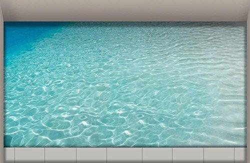 Stoff Kopfsteinpflaster (LXPAGTZ 3D Bad klebte HD Wasser Wohnzimmer Flur Küche Esszimmer Badezimmer wasserdichte rutschfeste selbst selbstklebende Aufkleber am Boden 900 * 580mm (35,4 * 22,8 Zoll) #007)