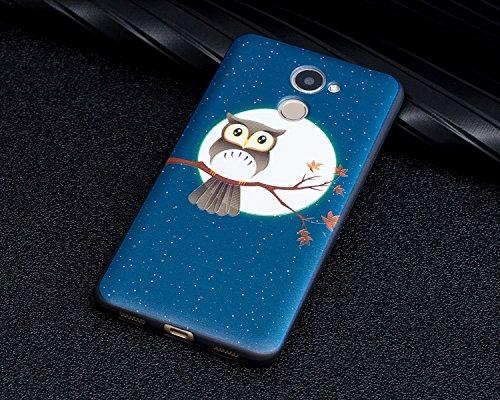Huawei-Y7-prime-Custodia-Cover-Huawei-Y7-prime-JAWSEU-Huawei-Y7-prime-Protectiva-Bumper-Bella-Ultra-Sottile-3D-Sollievo-Modello-Silicone-Custodia-Cover-Protezione-Antiurto-Liscio-Flessibile-Gomma-Gel-