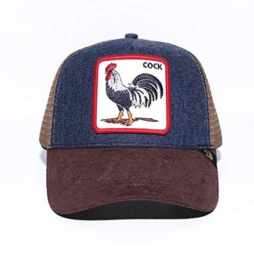 sdssup Berretto da Baseball Animale Cappellino con Ricamo in Volpe Cappellino in Rete Cappello Rooster Denim Regolabile