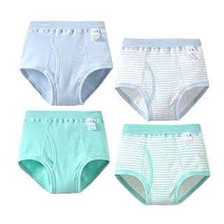 Feicuan Unterhosen Jungen - Kinder Boxershort Weiche Baumwolle Gestreifte Unterwäsche Boxer Slips 2-12 Jahre 4er Pack