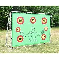 Porta da calcio con obiettivi, 2,1 x 1,5 metri, sfida punti obiettivo, rimbalzo, tiro e divertimento per i bambini