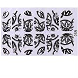Generic Manicure Black Lace With Diamond Sticker Nail Sticker #05037077 # only no. 68