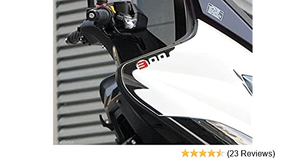 2 Stickers 3D Fender Protection kompatibel f/ür Roller Kymco XCITING S 400 i