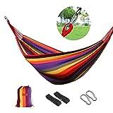 logei®Hamaca para Camping Excursión al Aire Libre Jardín Capacidad de Carga 200Kg, 200*150cm, Multicolor