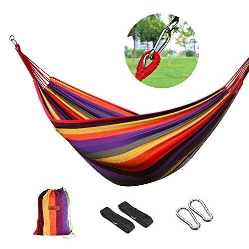 logeiHamaca para Camping Excursión al Aire Libre Jardín Capacidad de Carga...