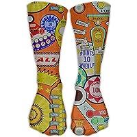 hat pillow Cartoon Pinball Orange Crew Socks Cotton Casual Knitting Warm Winter Socks