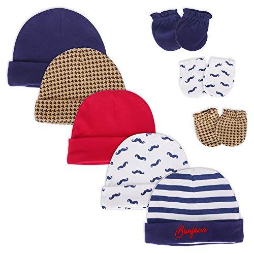 LACOFIA Conjunto Sombreros Manoplas Bebé Niños 100%