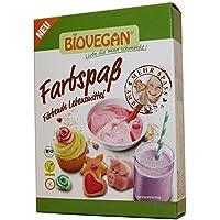coloranti alimentari in polvere biologica naturale 8x5g (5 colori) BIOVEGAN | Colorazione alimentare polvere organica 5 bustine (rosso - giallo - arancione - rosa - verde)