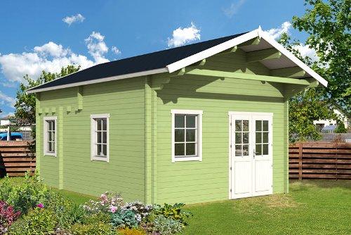Gartenhaus und Terrasse,