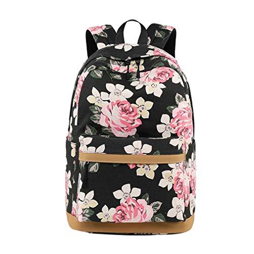 Lefu Schultaschen Rucksack Teen Girls Bookbag Reisekapazität Rucksack