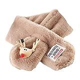 Toruiwa Weihnachten Schal Warm Soft Wrap Kinder Schals aus Polyester für Winter Herbst Frühling Winddicht 78 * 10cm (Khaki)