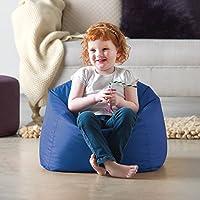 Bean Bag Bazaar Hi-Rest Chair - Kids Teens - Indoor Outdoor Childrens BeanBag (Blue, Small)